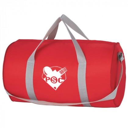 Red Budget Duffle Bag Zipper Custom Logo