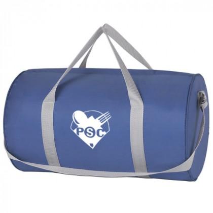 Royal Blue Budget Duffle Bag Zipper Custom Logo