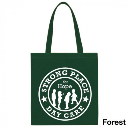 Popular Tote Bag-Low Price-with Imprint - Forest Green