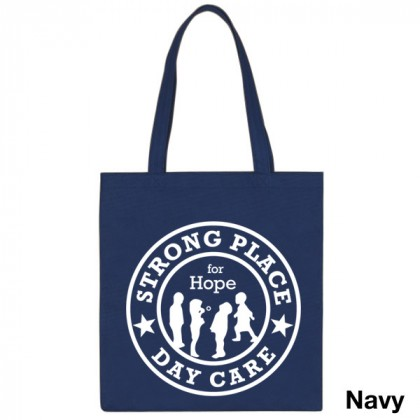 Popular Tote Bag-Low Price-with Imprint - Navy Blue