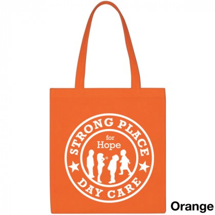 Popular Tote Bag-Low Price-with Imprint - Orange