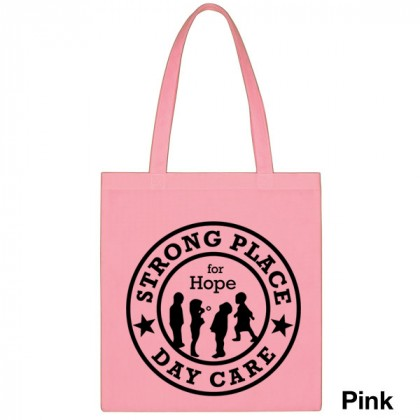 Popular Tote Bag-Low Price-with Imprint - Pink