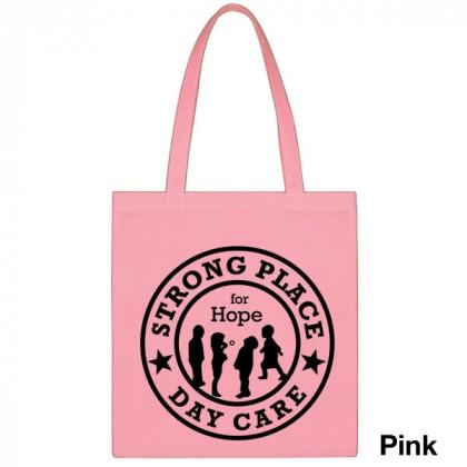 Popular Tote Bag-Low Price-with Imprint - Pink