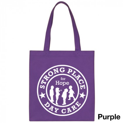 Popular Tote Bag-Low Price-with Imprint - Purple