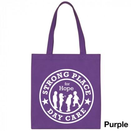 Popular Tote Bag-Low Price-with Imprint - Purple