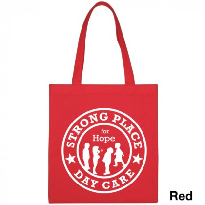 Popular Tote Bag-Low Price-with Imprint - Red