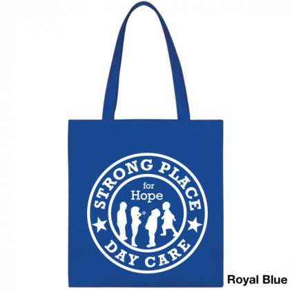 Popular Tote Bag-Low Price-with Imprint - Royal Blue
