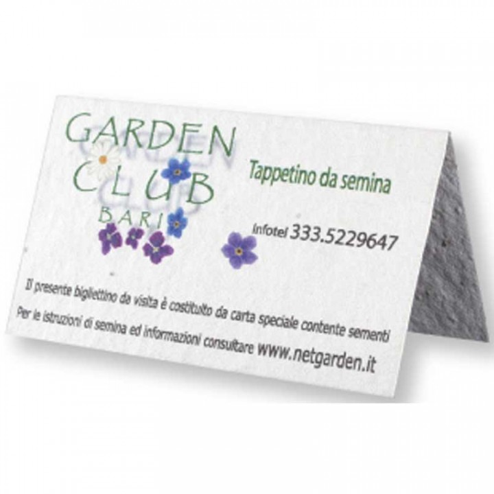 Folded Seed Paper Promotional Business Cards | 4AllPromos