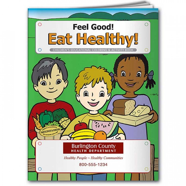 Promotional Coloring Book | Feel Good Eat Healthy | Coloring Book