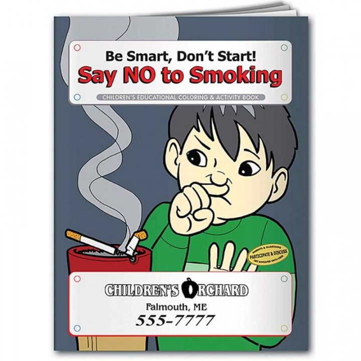 Custom Coloring Book | Say NO To Smoking | Promotional Coloring Book