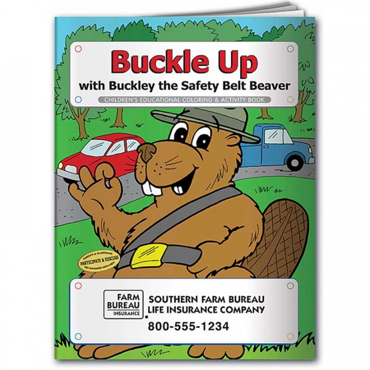 Coloring Book | Buckle Up | Custom Logo Promotional Coloring Book