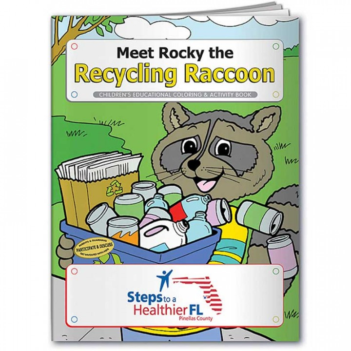 Custom Coloring Book | Rocky The Recycling Raccoon | Coloring Book