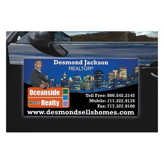 Promotional wide car magnet 24 in x 12 in custom car for 12 x 24 car door magnets