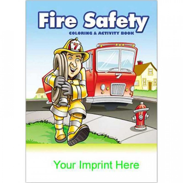 Imprinted Fire Safety Coloring Book | Promotional Coloring Books