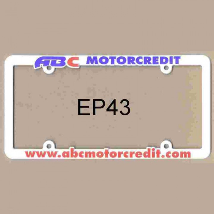 Economy Plastic License Tag Frame | Cheap Custom License Plate Frames