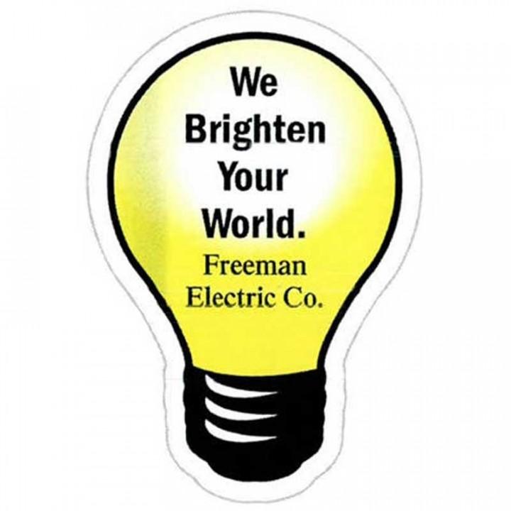 Light Bulb Custom Advertising Magnets | Promotional Magnets in Bulk