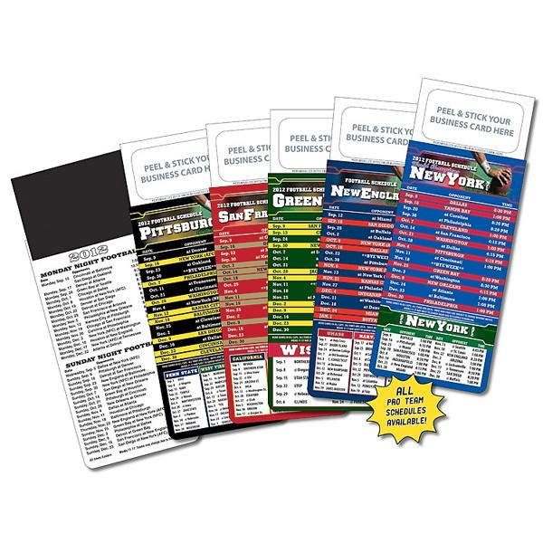 Magnetic business card football schedules promo business cards magnetic business card football schedules colourmoves
