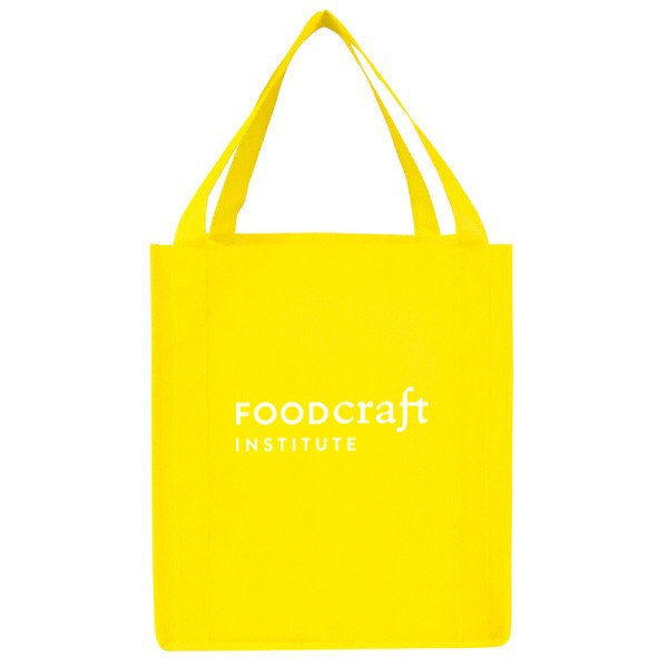 Logo Imprinted Reusable Shopping Bag - Saturn Grocery Tote ...