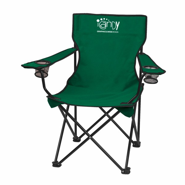 Customizable Promotional Fold Up Chairs   Outdoor Chairs With Business Logo    Hunter Green