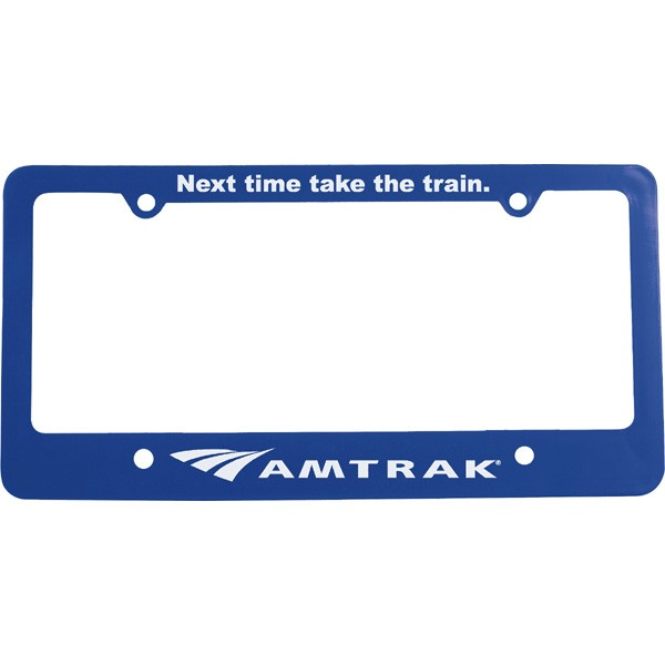 Classic Personalized 4 Hole License Plate Frames with Logo Imprints