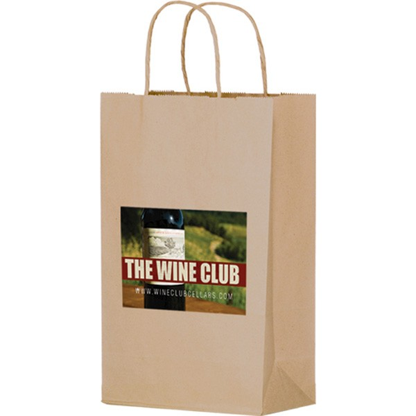 two bottle sized paper bags bulk wine bottle bags full color logo