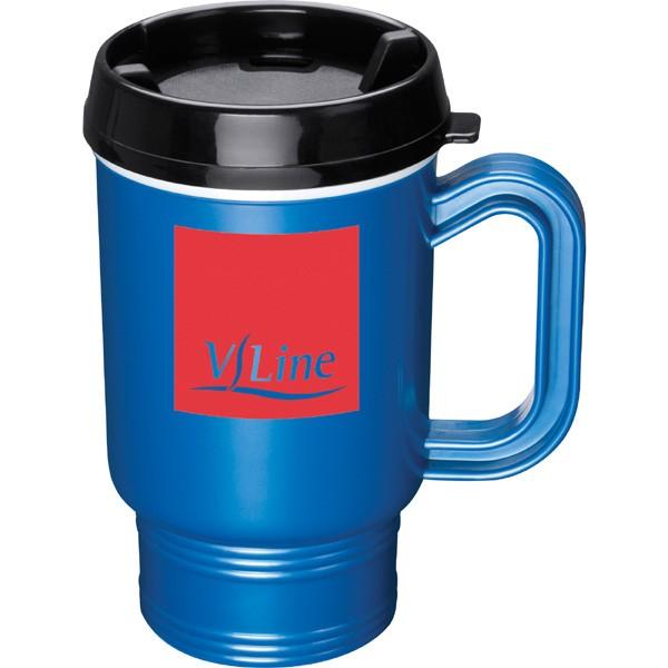 promotional plastic travel coffee mug 16 ounces promo travel mugs