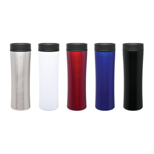 16 oz cyrus insulated promotional travel coffee tumbler with logos