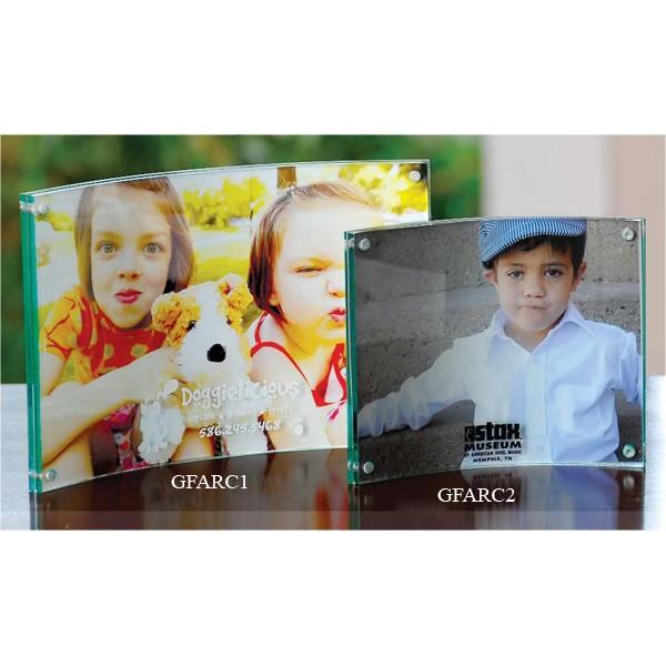 Arc Acrylic Frame - 4 x 6 With Imprint   Custom Picture Frames
