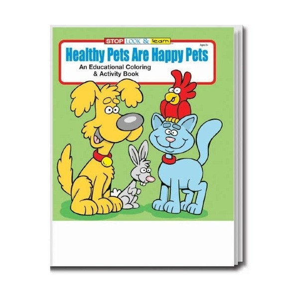 Custom Coloring Book | Healthy Pets Are Happy Pets | Promo Books