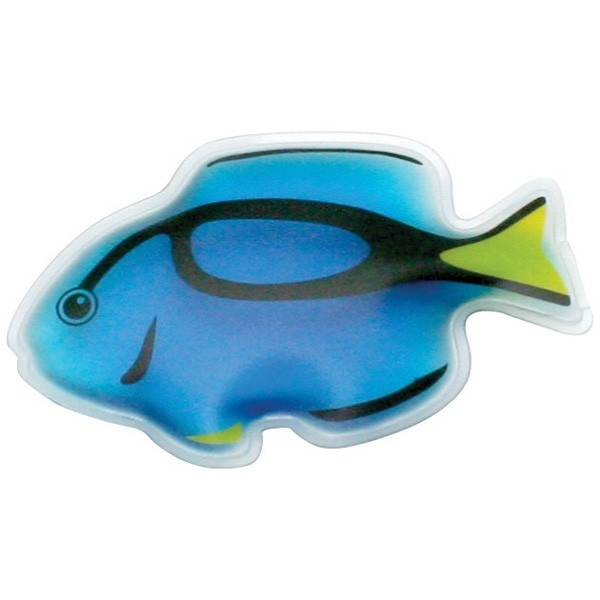 Tropical blue tang fish chill patch with imprint 4allpromos for Blue tang fish price