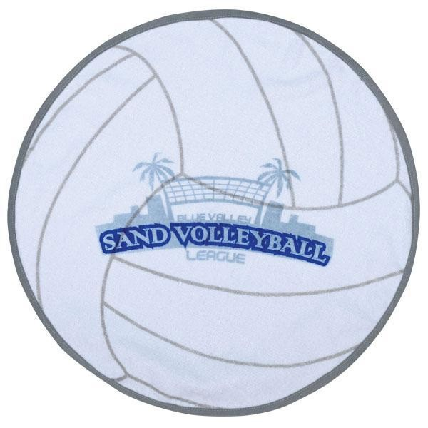 Beach Blanket Volleyball: Promotional Sports Shaped Beach Towels