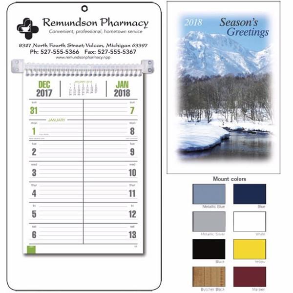 Imprinted Memo Calendar With Mount| Custom Promotional Calendars