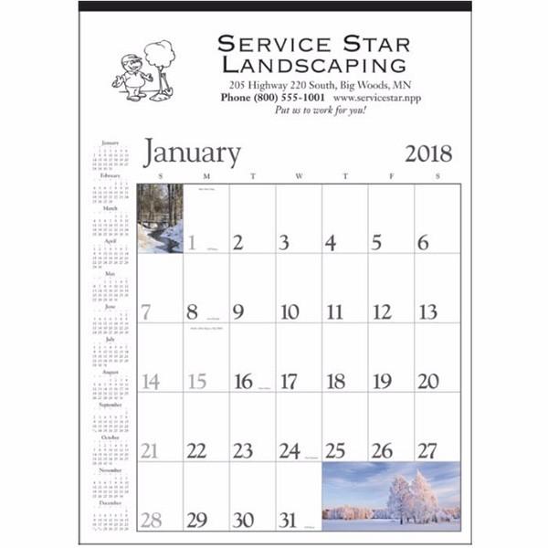custom printed decorator memo wall calendar white 4allpromos
