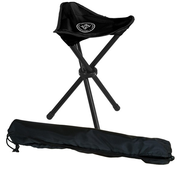 Tripod Stool Custom Imprint Folding Stadium Chair For
