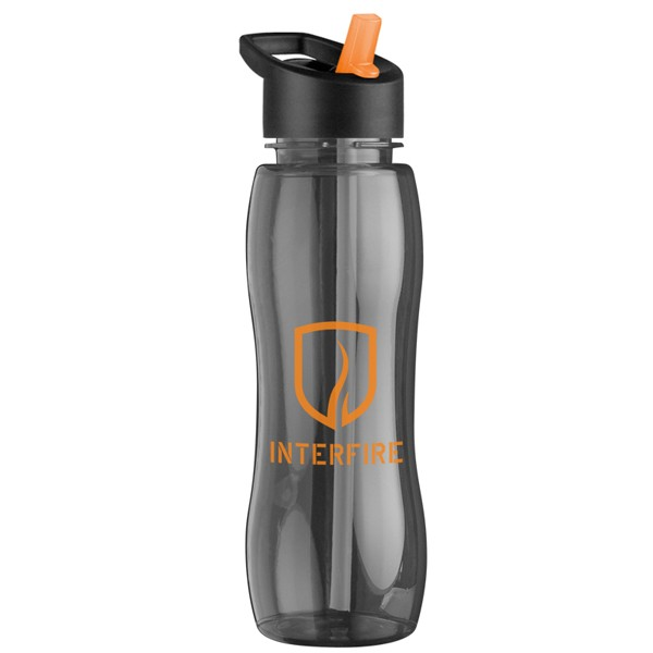 Slim Water Bottle slim grip 25 oz. promo plastic sport bottle with straw lid