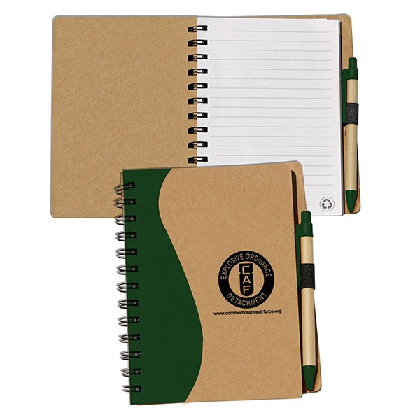 imprinted large recycled journal combo custom journals in bulk