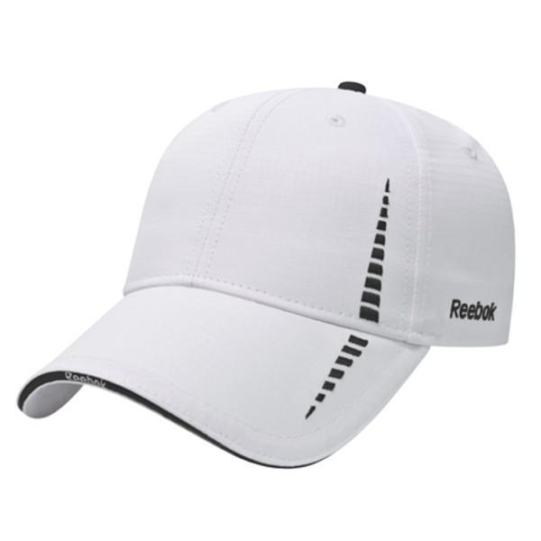 Promotional Reebok Structured Medium Profile Cap - White navy 533a53efab4