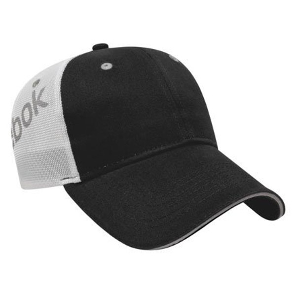 54972bceb87de Embroidered Reebok Structured Low Profile Cap - Black gray white