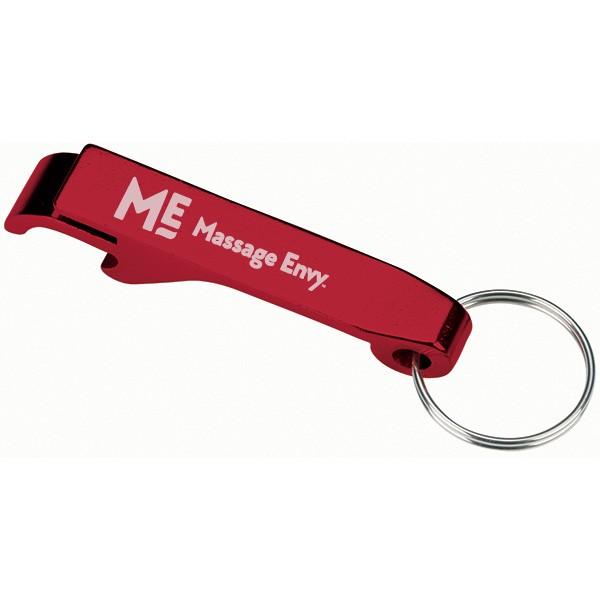 promo engraved red bottle opener key chain custom bottle openers. Black Bedroom Furniture Sets. Home Design Ideas