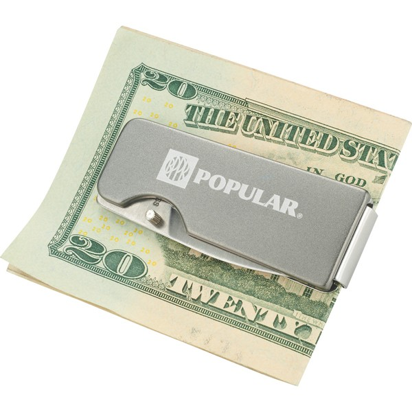 flat single blade knife money clip