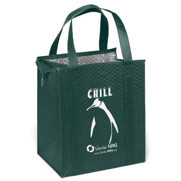 Insulated Reusable Grocery Tote Bag with Logo | 4AllPromos