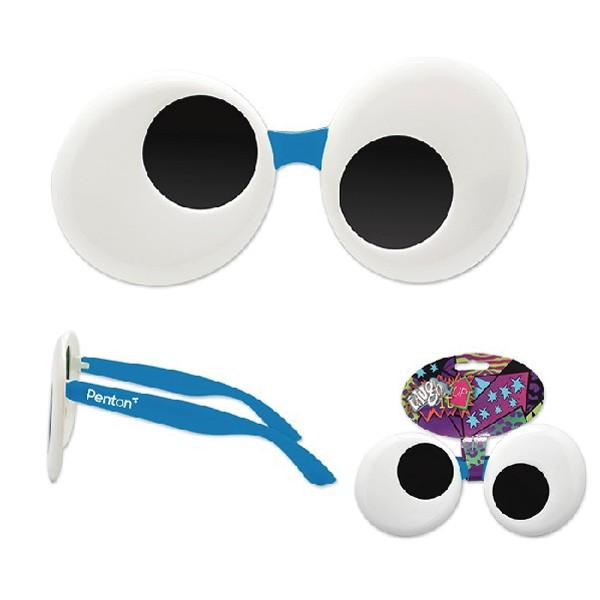 promotional blue googly eyes sun stache googly eye sunglasses