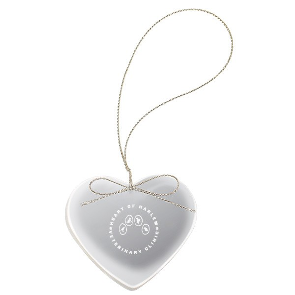 promotional etched crystal heart ornament promotional ornaments