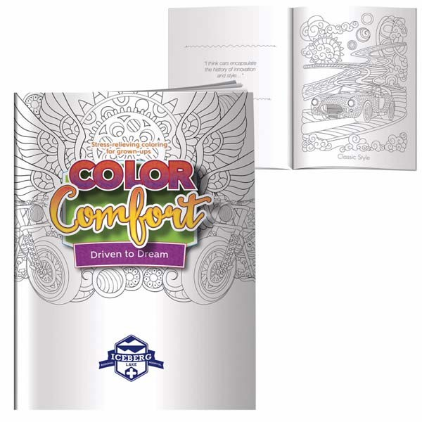 Adult Coloring Book - Driven To Dream Promotion | Custom Coloring Book