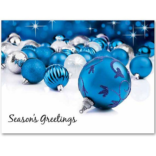 Custom blue ornaments greeting card blue ornament greeting cards custom blue ornaments greeting card m4hsunfo