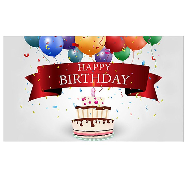 Birthday Personalized Greeting Card with Cake Candle 4AllPromos