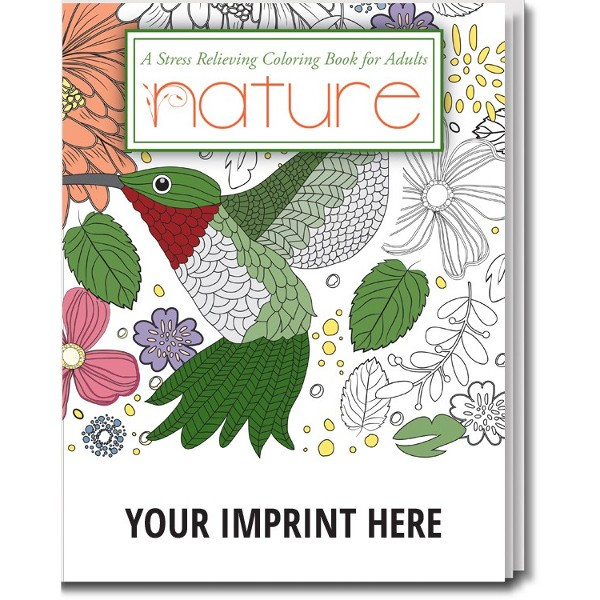 coloring books for adults wholesale imprinted nature stress relieving adult coloring book