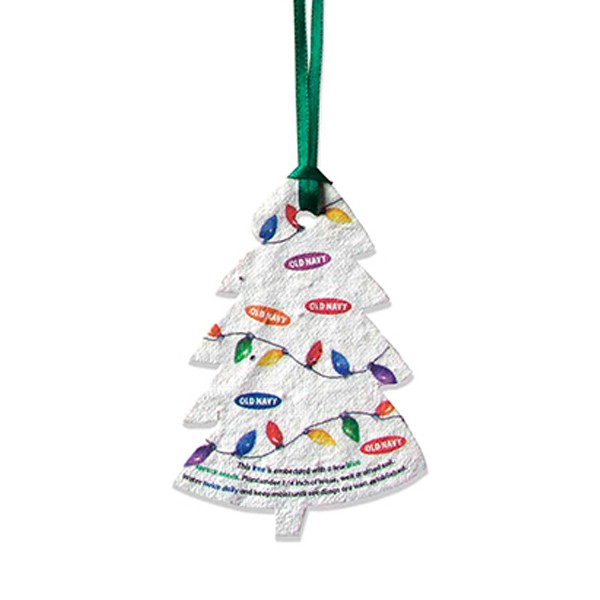 Seed Paper Ornaments Custom with Logo  4AllPromos