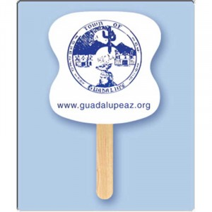 Mini Hourglass Hand Fan Promotional Custom Imprinted With Logo