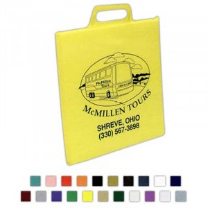"Stadium Cushion - Vinyl  - 12-1/2""x12-1/2""x1"" Promotional Custom Imprinted Logo"
